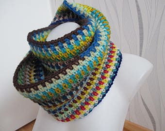 Multicolor wool scarf, mothers day gift