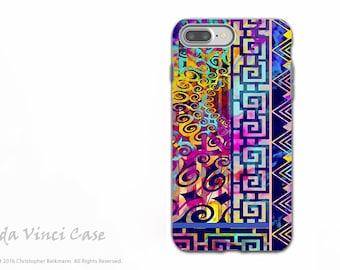 Colorful Modern Art - iPhone 7 PLUS - 8 PLUS Case - Artistic Dual Layer Apple iPhone 7 Plus Cover - Nouveau Boom