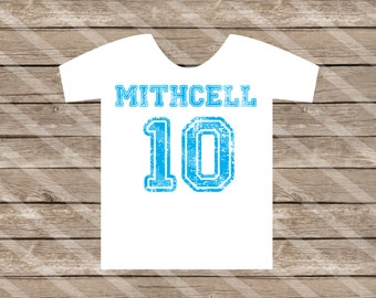 Name and Number or Age Printable Digital Download for creating  your iron-ons, heat transfer, Scrapbooking, DIY, YOU PRINT