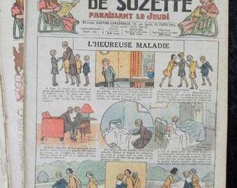 1931, Bleuette, Bécassine, scoutisme, sewing patterns, antique doll patterns, la semaine de suzette 6 numbers - FRENCH LANGUAGE(ref 186)