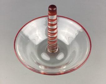 Ring Holder Dish - Lampwork Borosilicate glass  by Beau Barrett