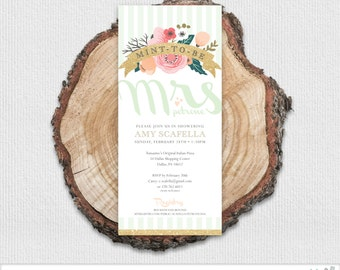 Mint To Be Bridal Shower Invitation
