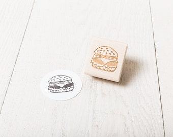 Hamburger - Rubber Stamp