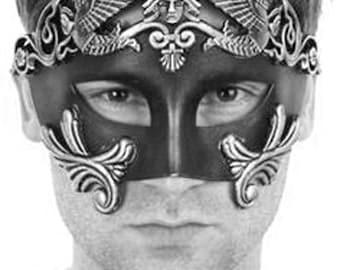New Roman Men Warrior Venetian Masquerade Mask men, Masquerade Ball Mask (For Him)1
