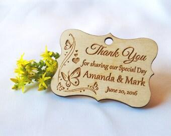 Thank you wedding tags, Wedding favor, Wedding tag, Wedding favor rustic, Gift tags, Wedding tags, Custom favor, Wood tags, Wooden tags