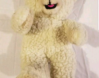 Snuggle Bear Russ Berrie Co. Teddy Bear 1986 80s Lever Brothers Plush Stuffed Animal