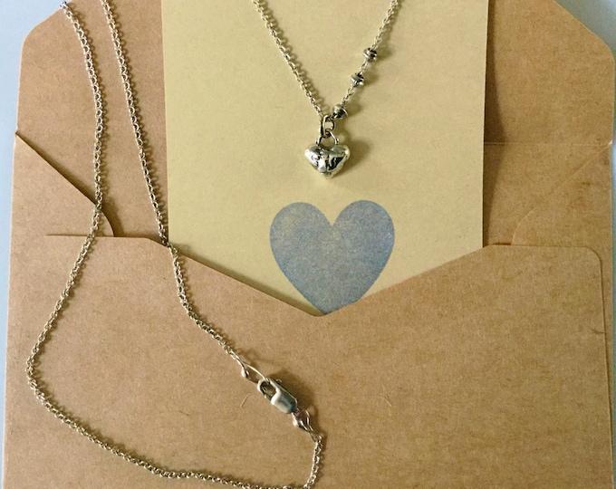 Sterling Silver Little Heart Necklace