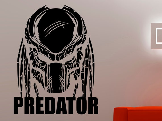 Predator wall decal superhero stickers home interior design living room decor wall murals removable stickers 5prmz