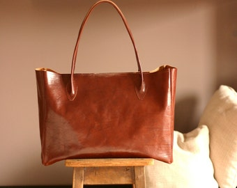 Leather tote, Leather tote bags for women, tote bag, leather bag women made in Italy, leather shoulder bag women
