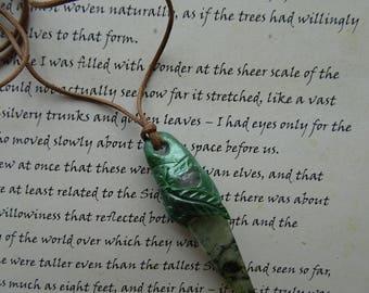 Faerie Blessing ~ Prehnite & Rose Quartz Pendant