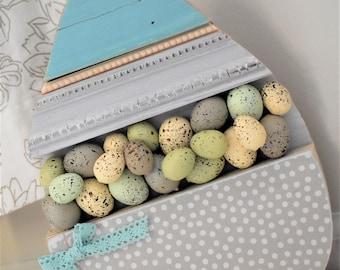 Reclaimed Wood Easter Egg - Spring Decor - Easter Decor - Egg Decor - Easter Sign
