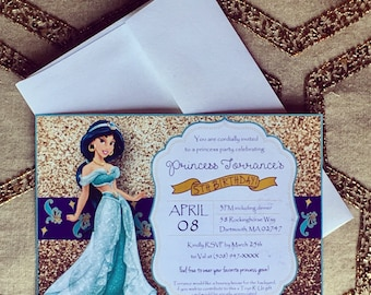 Aladdin invitation Etsy