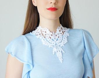 Wedding Gift Wedding Jewelry Wedding Necklace Bridal Necklace Bridal Jewelry Bridal Statement Necklace Bib Necklace White Necklace / TORIANO