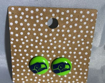 Seahawks Perler Bead Earrings