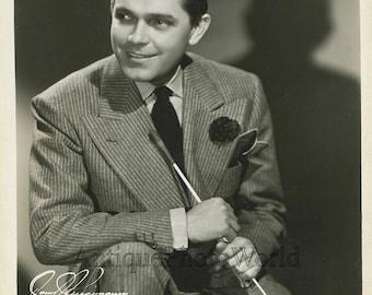 Handsome Frankie Masters w baton singer big band leader antique jazz photo