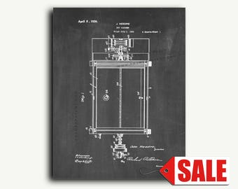Patent Print - Dry Cleaner Patent Wall Art Poster