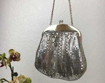 40's Whiting & Davis Silver Evening Bag