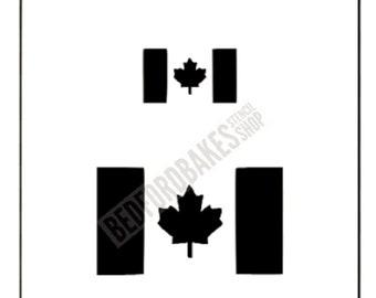 Canadian Flag/ Canada Flag Stencil / Cookie Stencil