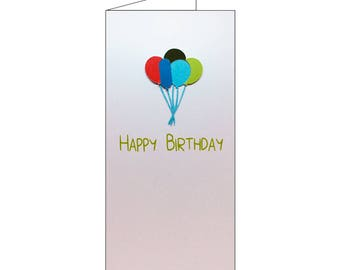 Happy Birthday Balloons Card 2018 Style