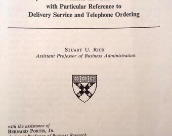 Shopping Behavior of Department Store Customers, Stuart Rich, Harvard University, 1963