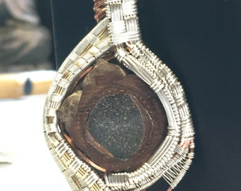 Pinecone pendant wire wrap