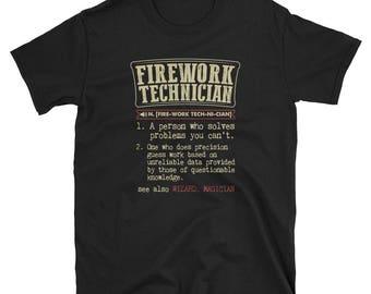Firework Technician Shirt Definition Gift  Tee