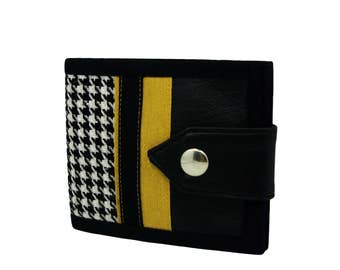Bee Wallet, Vegan Leather Wallet, Bifold Vegan Wallet with Coin Pocket, Billfold Wallet with Coin Pocket - UNUSUAL Wallet