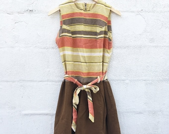1960's Earth Tone Mod Dress