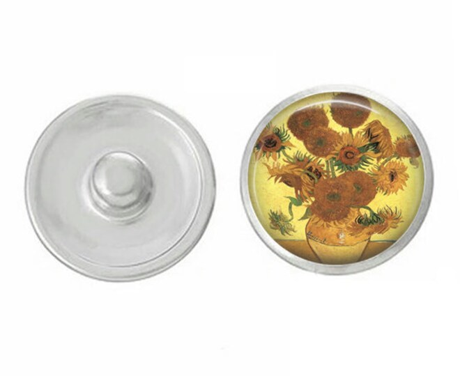 Van Gogh Floral - Pair with our Base Pieces - Compatiable with GingerSnaps and Magnolia and Vine Pieces - HandPressed Snaps