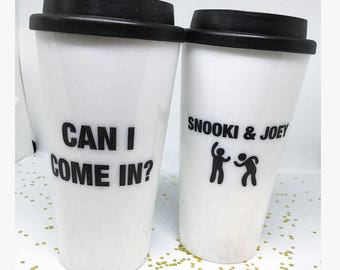 Can I Come In Collection Coffee Tumblers Snooki and Joey