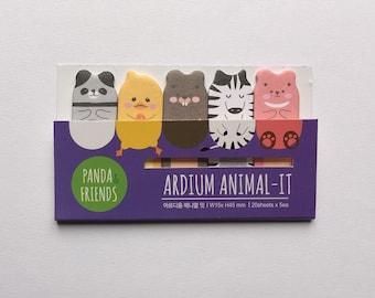 Animal Index Stickers Cute Animal Bookmark Journal Planner Organizer kawaii Scrapbooking