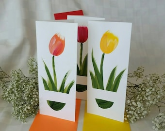 Hand-painted Mother's Day cards - 6 designs! Custom, personalized