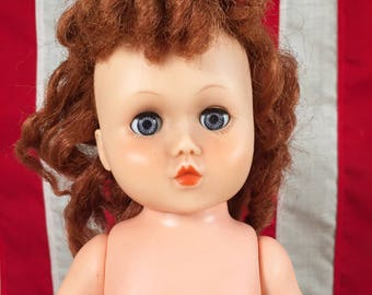 Vintage Horsman Doll Girl Doll with Root Hair Horsman 82