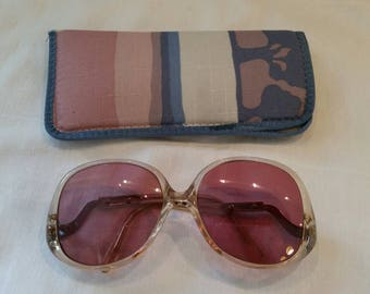 Vintage 80s sunglasses bifocals and case