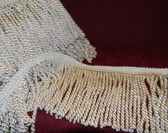 "Elegant 6"" Long Bullion Fringe in Ivory"