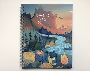 Camping Log Volume 1 - includes 4 perforated postcards