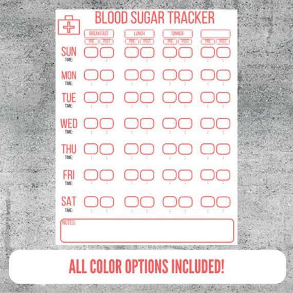 printable blood sugar logs