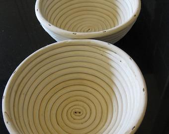 Large Round Handmade Cane Bread Proving Basket / Banneton