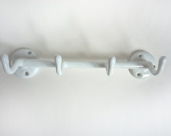 Vintage White Iron Wall Hook, Shabby Chic