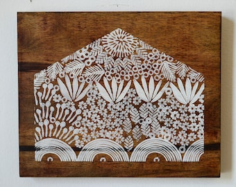 Reclaimed Repurposed Wood-Upcycled Hand Printed wall art-Ready to Hang-Home-House
