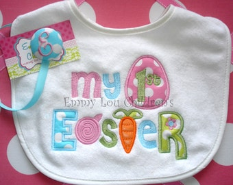 My First Easter Bib and Pacifier Gift Set