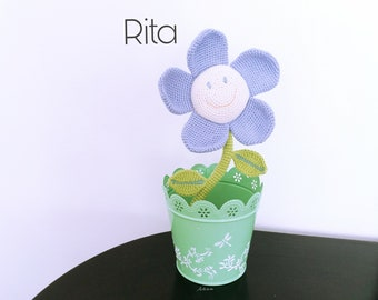 Pattern crochet Flower, Pattern amigurumi Flower, Flower crochet pattern, Flower amigurumi pattern, Flower Rita