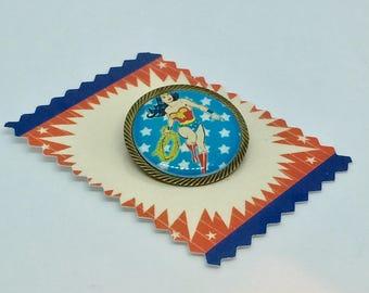 Wonder Woman star brooch