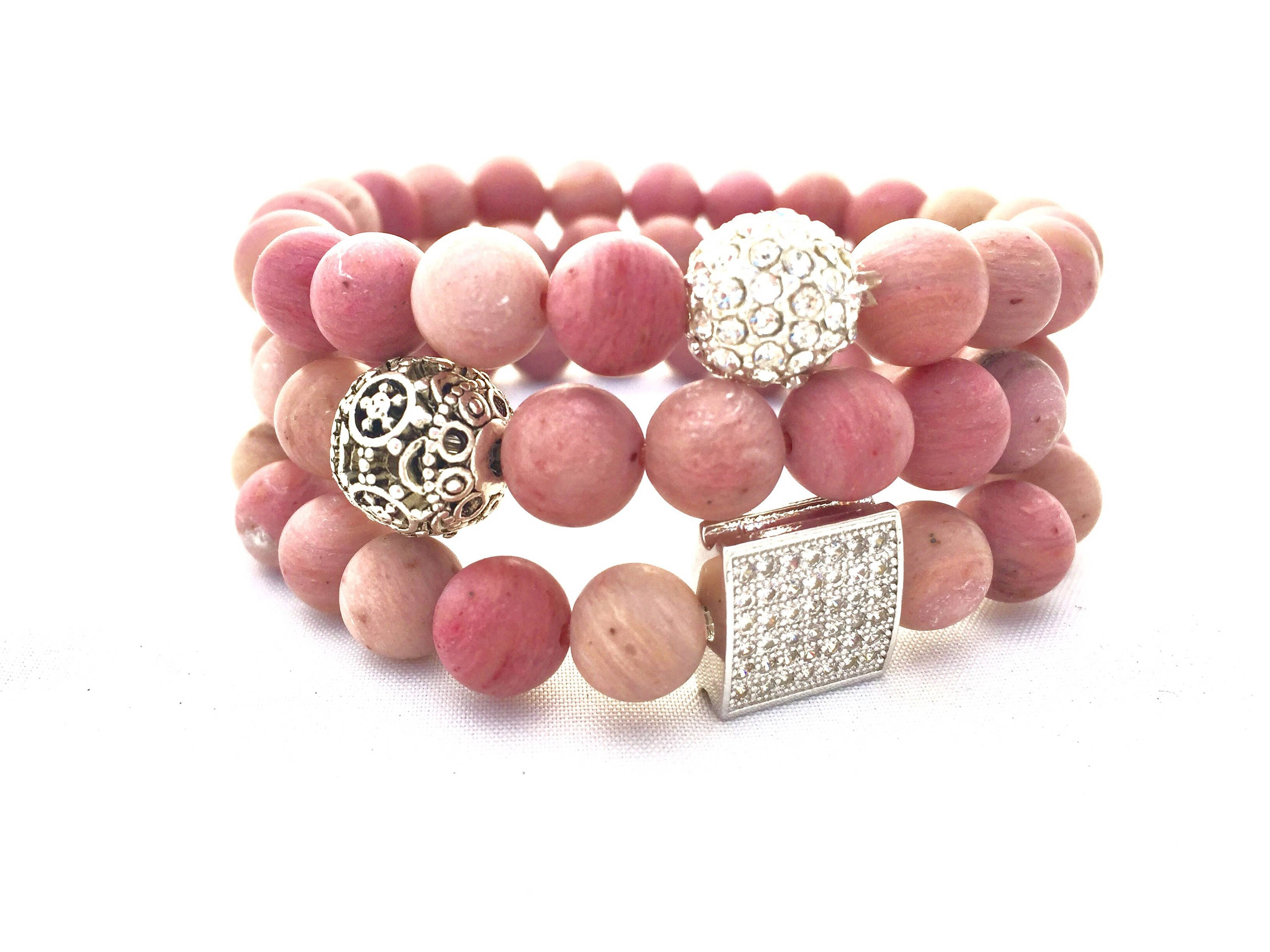 gemstone essentiabylovelilyrose stone bracelet original courage handmade product precious and stack essentia love silver semi by lily