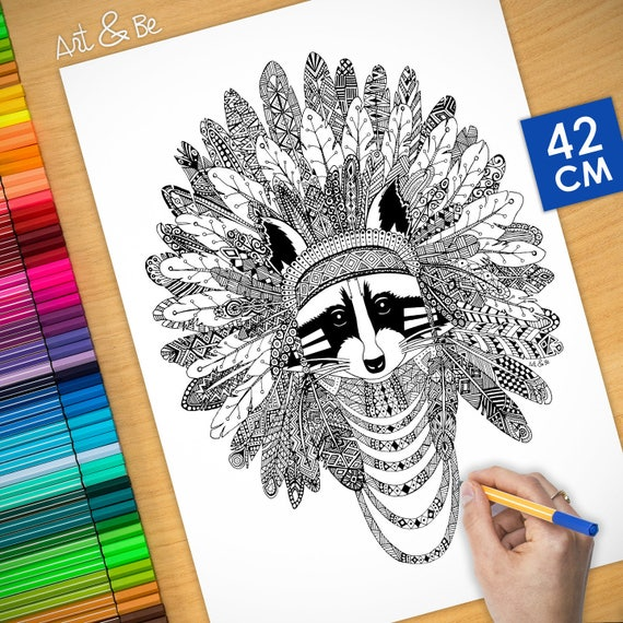Coloring poster - INDIAN ...