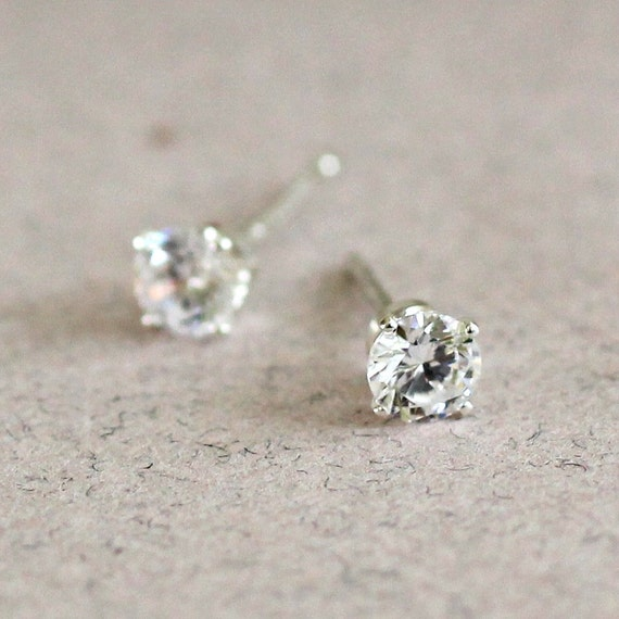 cubic silver men crown zirconia sterling gold post women s party earrings p stud of picture