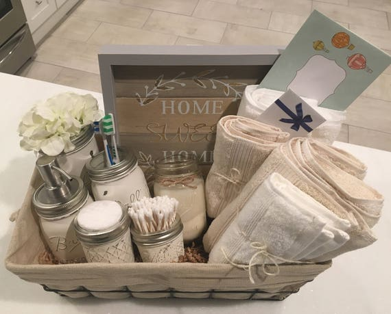 Home Design Gift Ideas: Closing Basket Housewarming Basket Wedding Gift Bathroom