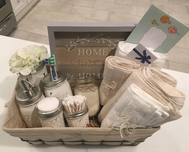 Closing basket housewarming basket wedding gift bathroom zoom negle Images