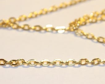 beautiful golden chain, mesh 3 about 51 cm set of 5 mm (2.5 m of string)