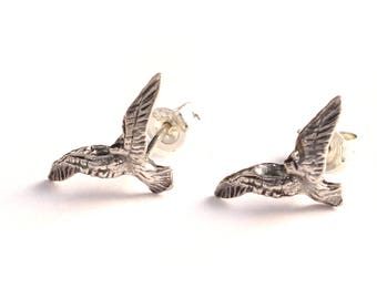 Eagle flying 925 sterling silver Stud Earrings